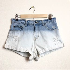 BILLABONG bleach dye Jean Shorts Size 28